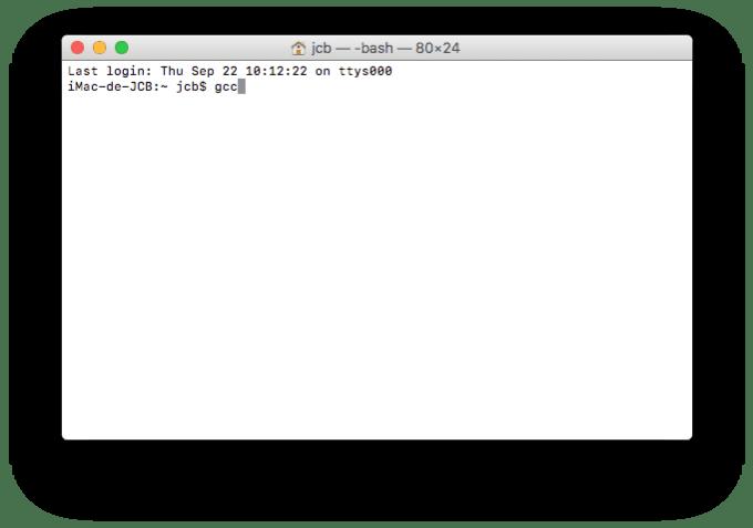 installer xcode macos sierra gcc