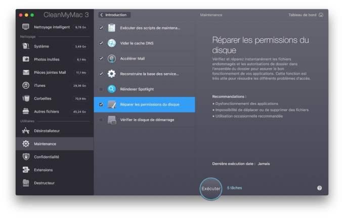 Optimiser macOS Sierra reparer-permissions-du-disque