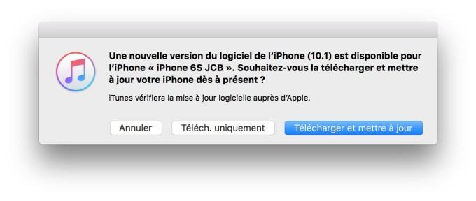 iOS 10.1 update itunes