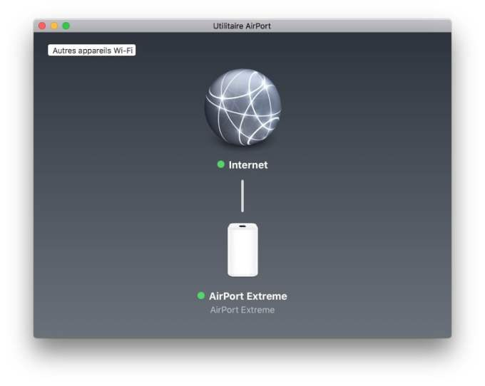 Apple airport extreme utilitaire airport