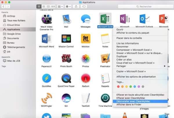supprimer une app sur macos sierra avec cleanmymac 3