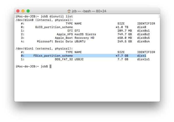 Dual boot macOS Sierra Linux creer cle usb bootable