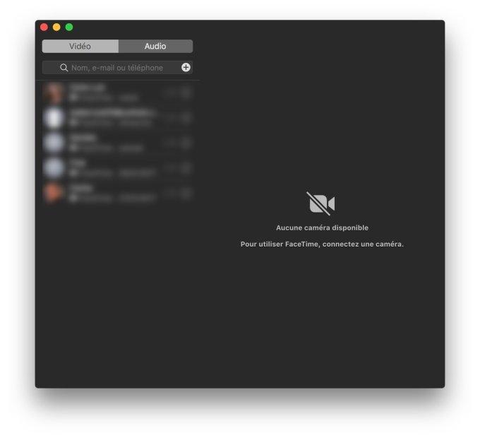 Desactiver la webcam du Mac Facetime