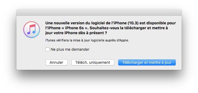 ios 10.3 telecharger