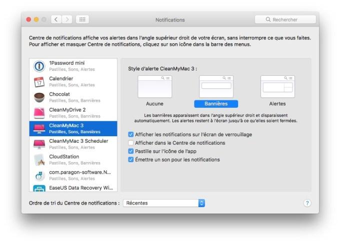 Supprimer le Centre de Notifications Mac desactiver les alertes du centre de notifications macos