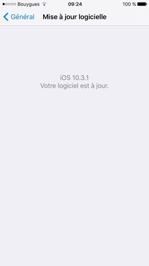 iOS 10.3.1 iphone 6s