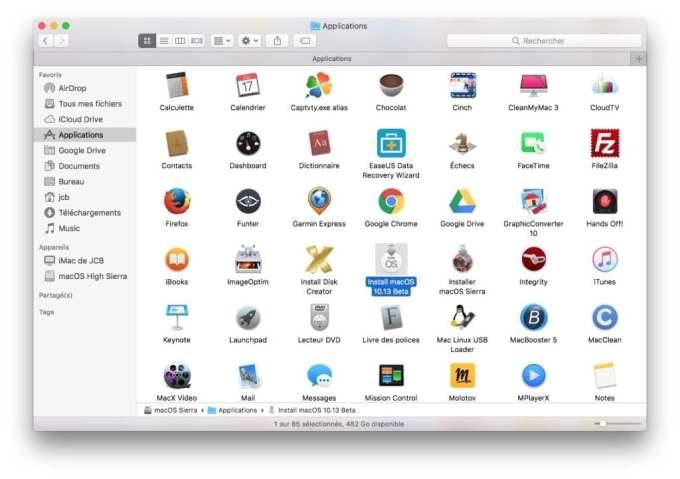 Créer une clé USB bootable de macOS High Sierra telecharger app