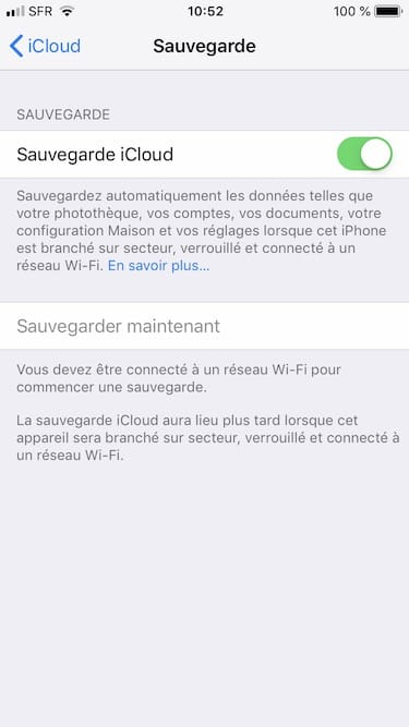 Installer iOS 12 backup donnees