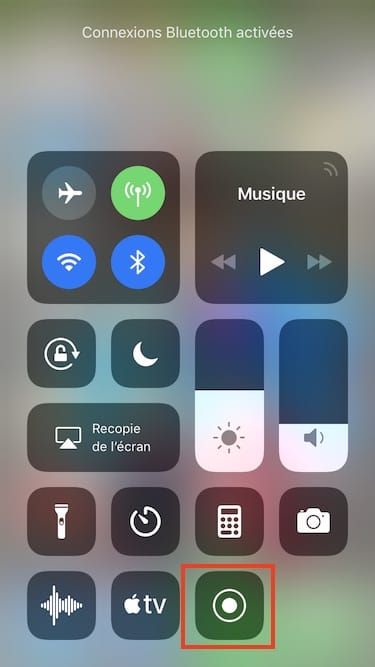 capture video sur iPhone ios 12