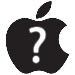 Apple Logo Question Mark