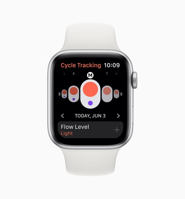 Apple Watch cycle tracking