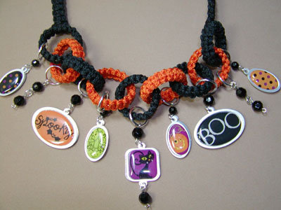 Macrame Halloween Necklace