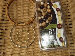 macrame beads, macrame rings