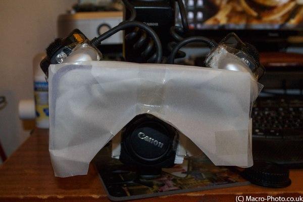 The Poppadom Diffuser on the lens.