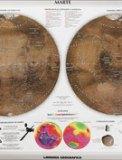 Carta Murale Astronomica - Marte - Luna - Grande