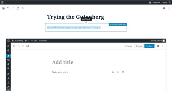 Open Gutenberg editor
