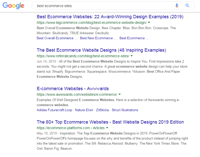 SSL/HTTPS websites ranked in first page