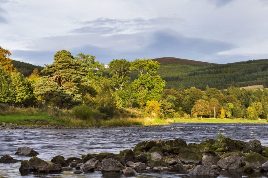The Speyside Whisky Trail follows the River Spey
