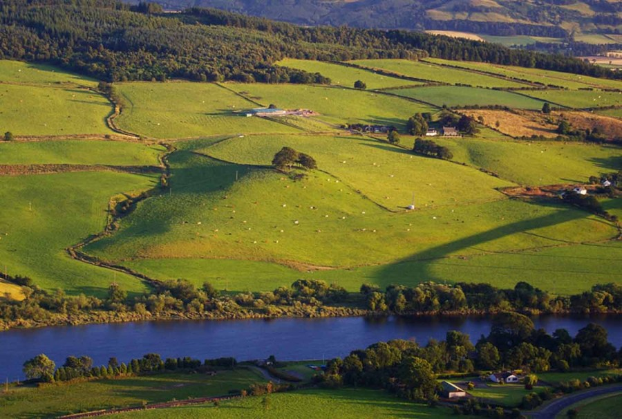 The River Tay meanders through Perthshire.