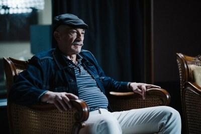 Szórády Csaba (animátor) interjú közben.