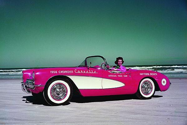 1956 Corvette Daytona pace car Betty Skelton