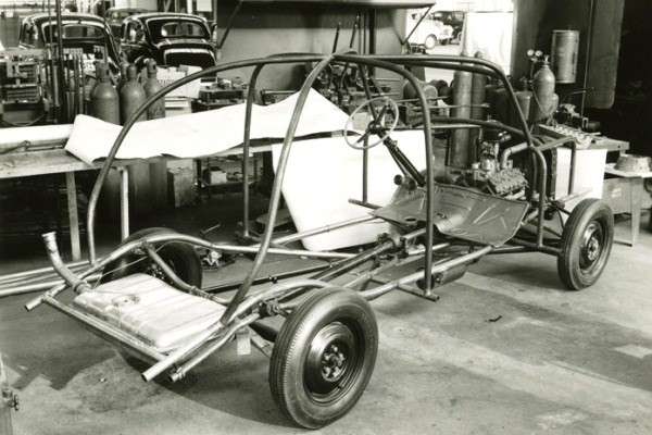 Ford soybean car chassis right rear