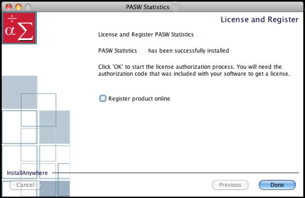 PASW Statistics mac