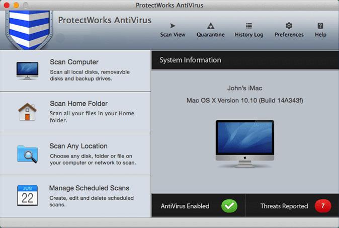 ProtectWorks AntiVirus mac