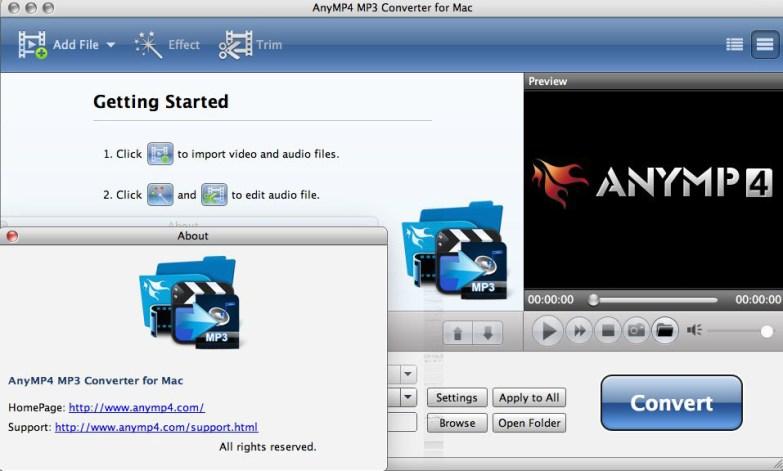 AnyMP4 MP3 Converter mac