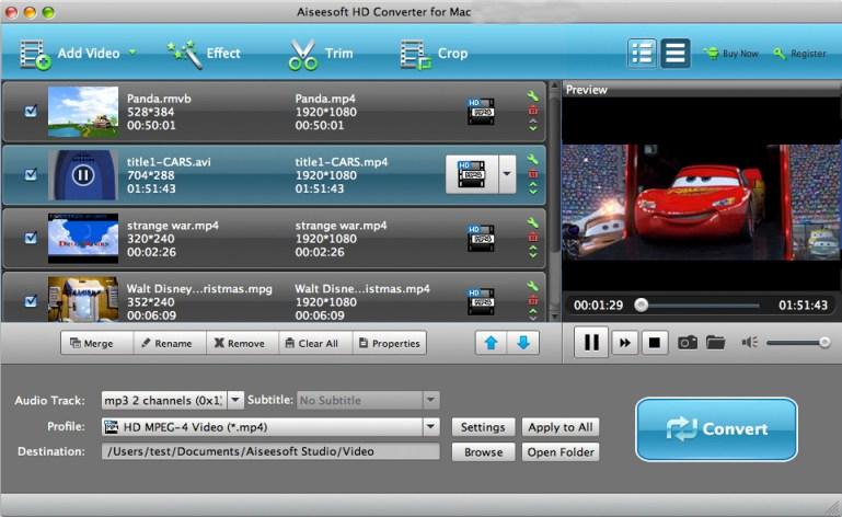 Aiseesoft HD Converter mac