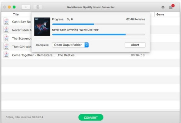 NoteBurner Spotify Music Converter mac