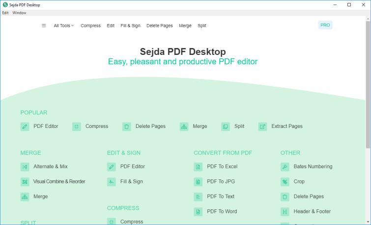 Sejda PDF Desktop Mac