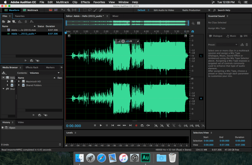 Adobe Audition Mac
