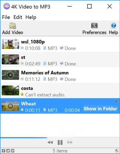 4K Video to MP3 Mac