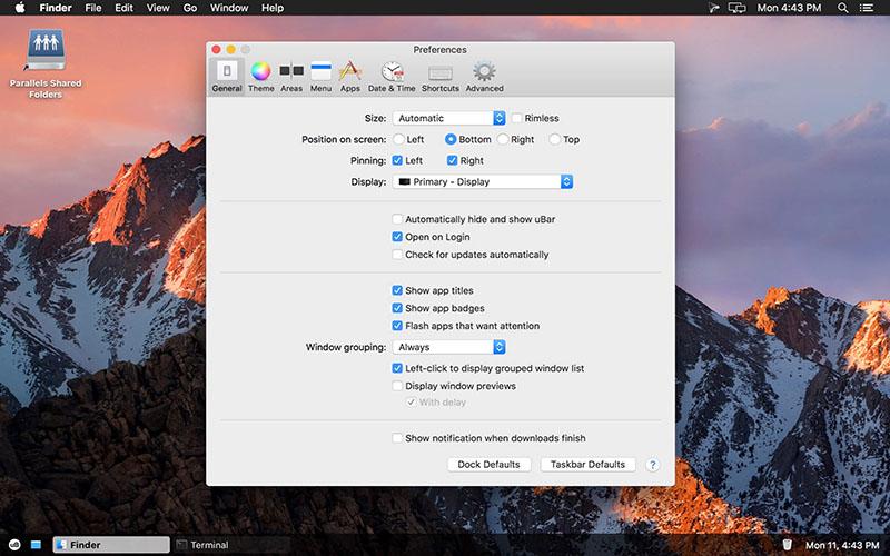 uBar for Mac