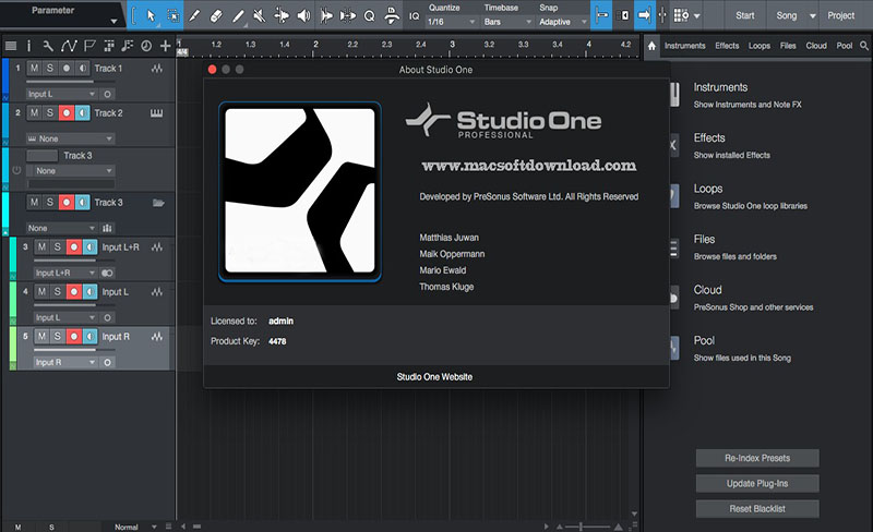 Studio One Professional for Mac