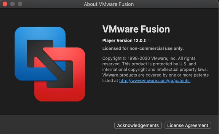 VMware Fusion 12 MacOS