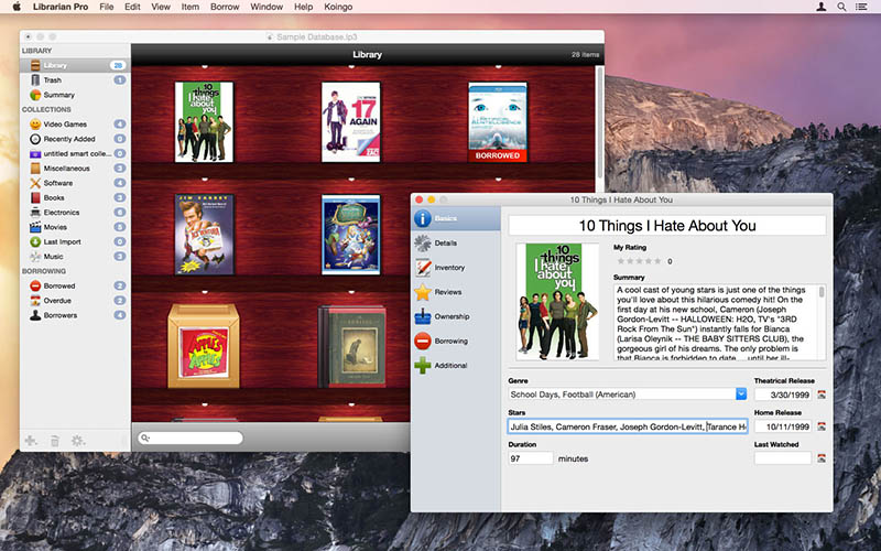 Librarian Pro 6 for mac