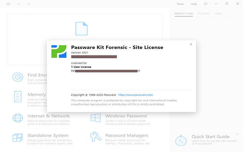 Passware Kit Forensic Mac