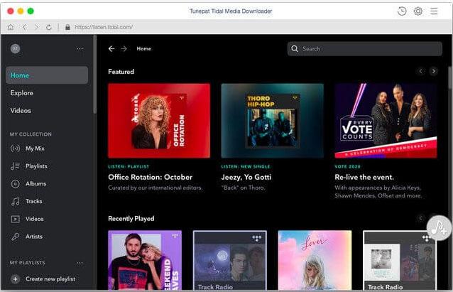 Tunepat Tidal Media Downloader Mac