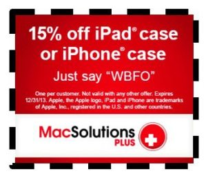 15 percent off iPhone iPad case