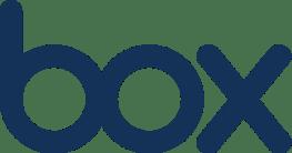 box logo dark blue