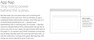 Mavericks App Nap