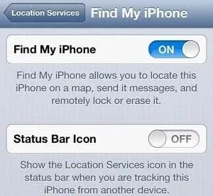 iOS find my phone