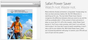 Safari Power Save