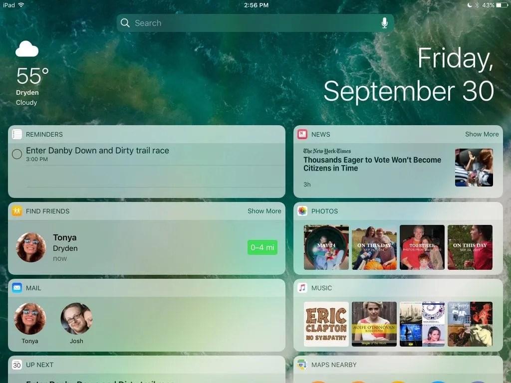 Widgets-iPad