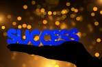 success with bokeh background