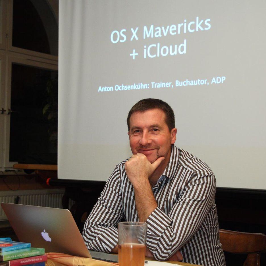 OS X 10.9-Vortrag mit Anton Ochsenkühn auf dem 98. Münchner Mac-Treff.
