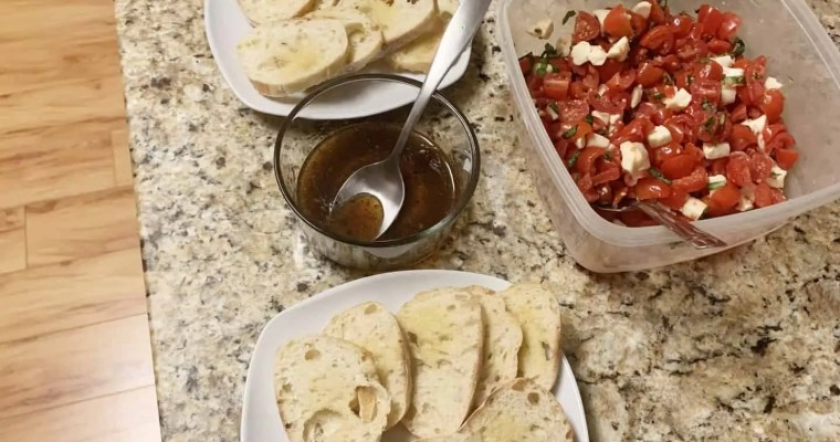 Bruschetta, Trying New Wine and Back/Shoulder Injuries