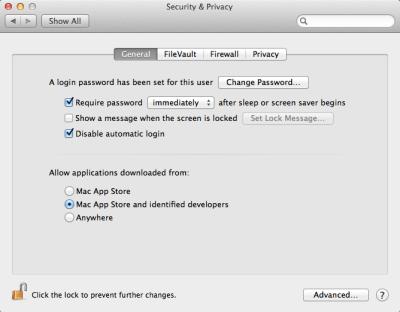 Gatekeeper in Mac OS X 10.8 Mountain Lion
